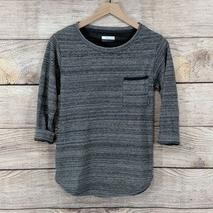Columbia heathered gray pullover